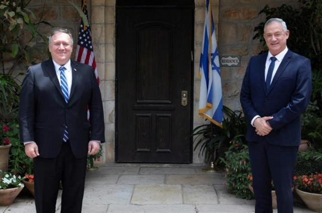 Pompeo visits Israel on eve of new govt amid West Bank violence