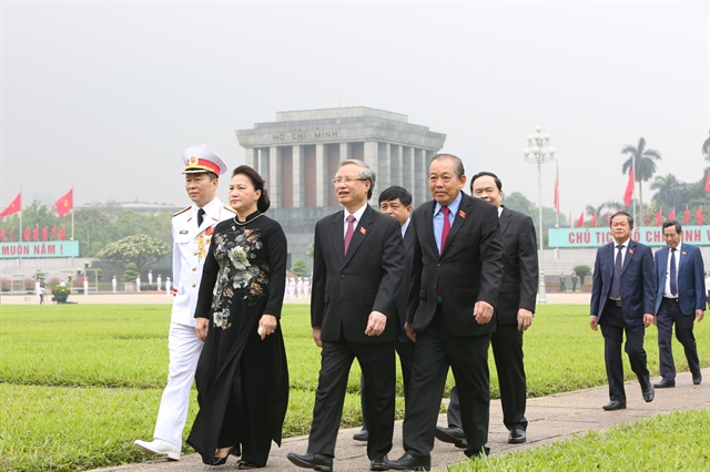Party State leaders parliamentarians commemorate President Hồ Chí Minh