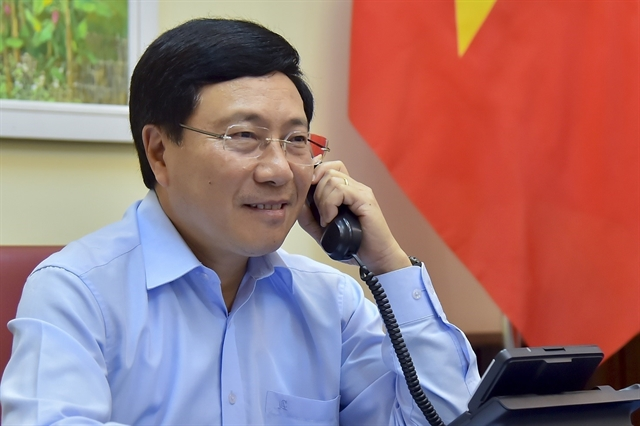 Vietnamese Italian FMs hold phone talks