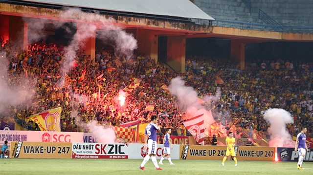 Football fan sentenced to four years in jail for setting off flares