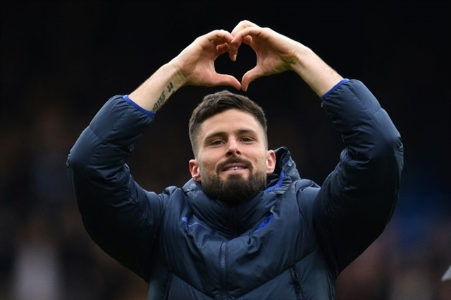 Giroud Caballero extend Chelsea deals to 2021