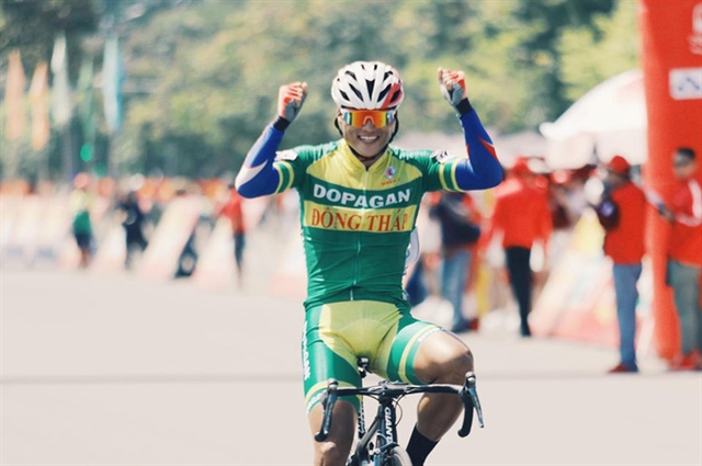 Kiệt wins seventh stage of HCM City Cycling Cup
