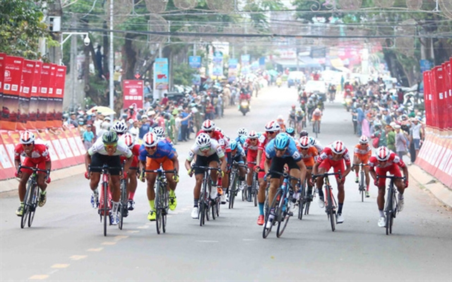 Vũ wins eighth stage of HCM City Cycling Cup