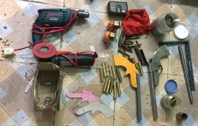 Four detained for manufacturing storing and using weapons