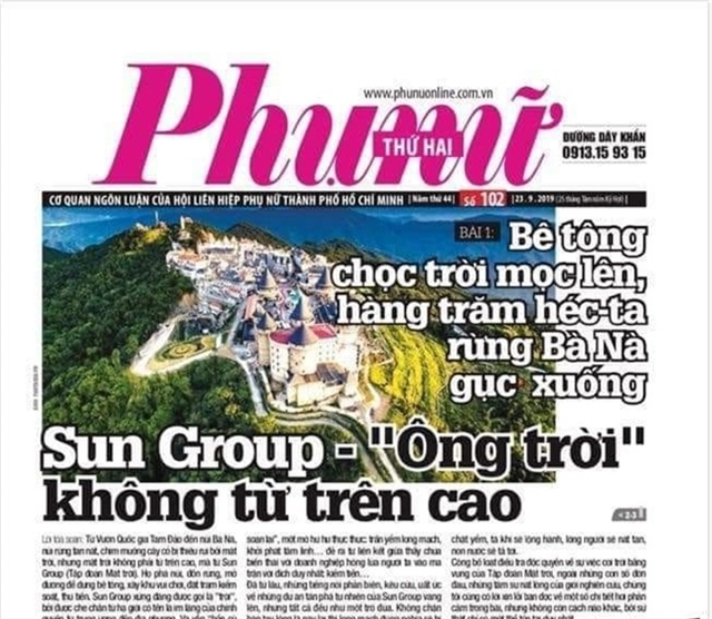 Phụ Nữ online newspaper in HCM City suspended