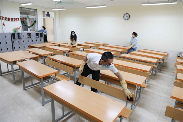 Schools prepare to welcome back students after long COVID-19 break - Society - Vietnam News | Politics, Business, Economy, Society, Life, Sports - VietNam News