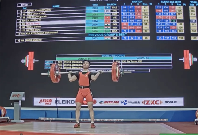 Rising weightlifting star Tùng aims to dominate competition