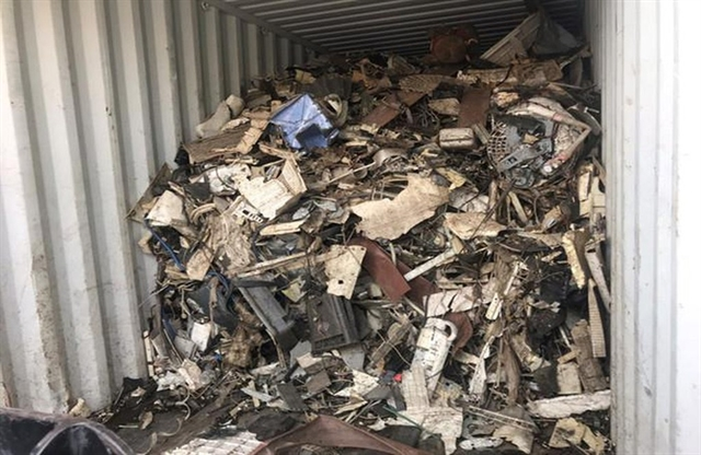 Nearly 1100 scrap containers to be sent back