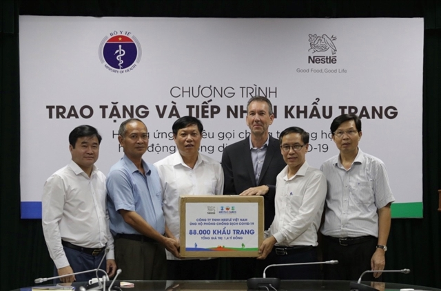 Nestlé donates 88000 medical face masks to MoH
