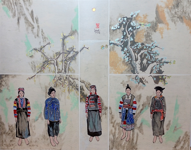 Veteran artist draws to preserve ethnic clothes