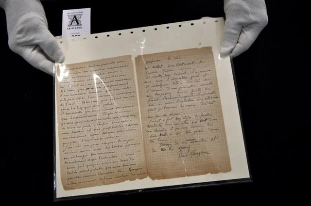 Van Gogh Gauguin brothel letter sells for 210000 euros