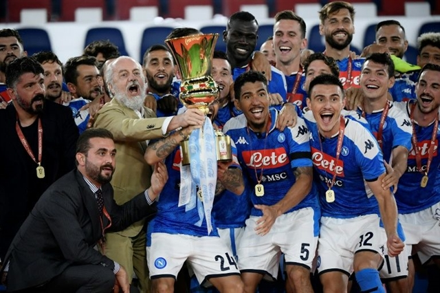 Theres a God of football says Gattuso as Napoli win sixth Italian Cup