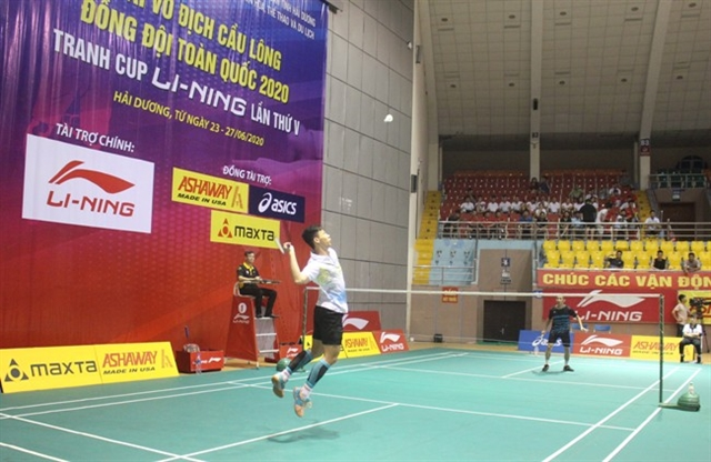 Badminton tournament underway in Hải Dương