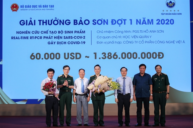 COVID-19 test kit wins Bảo Sơn award worth 60000