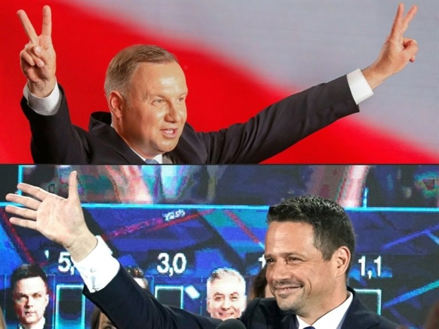 Polish president liberal rival face tight run-off