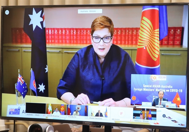 ASEAN Australia foreign ministers pledged cooperation in response against COVID-19
