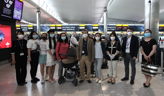 Vietnamese citizens brought home from the UK