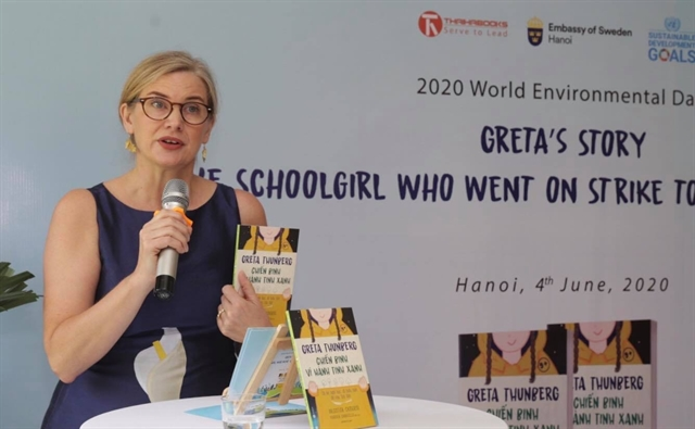 Book on eco-warrior Greta Thunberg published in Vietnamese