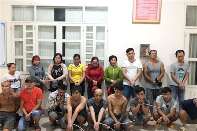 Seventeen arrested for gambling in Đồng Nai