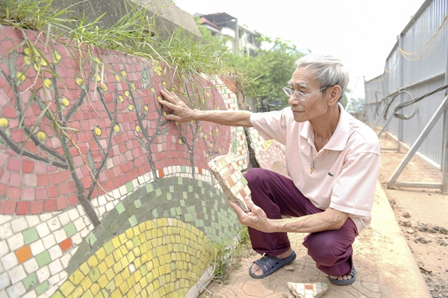 Part of Hà Nội ceramic mural to be demolished