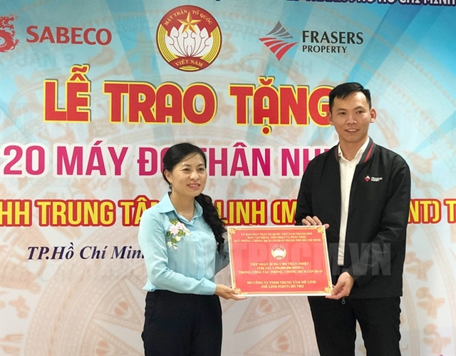 MêLinh Point donates 20thermal cameras to help fight Covid-19