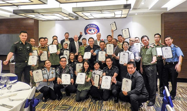 Immigration  border officers receive pandemic preparedness training