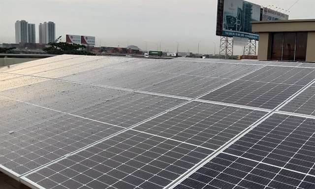 Many large enterprises install rooftop solar power systems