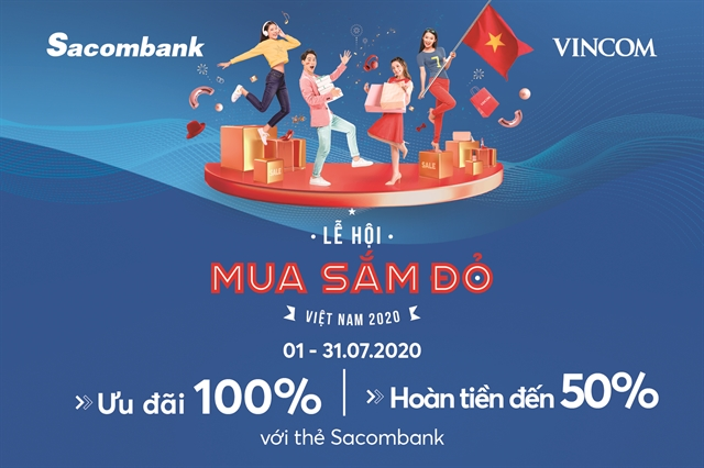 Sacombank cardholders get special offers for 'Red Sale Carnival at Vincom malls