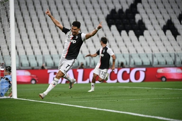 Ronaldo double puts Juve on brink of nine in a row