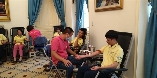 Royal Thai Embassy hosts blood donation to help Vietnamese patients