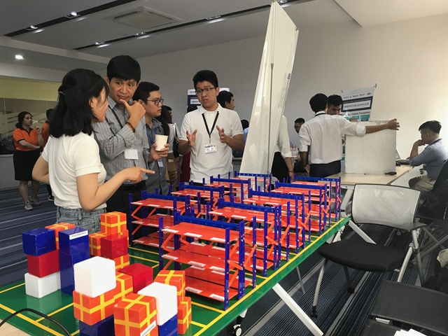Students present industry-linked prototypes at eProjects Innovation Showcase
