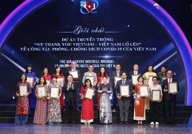 National External Information Service Awards dominated by COVID-19 works