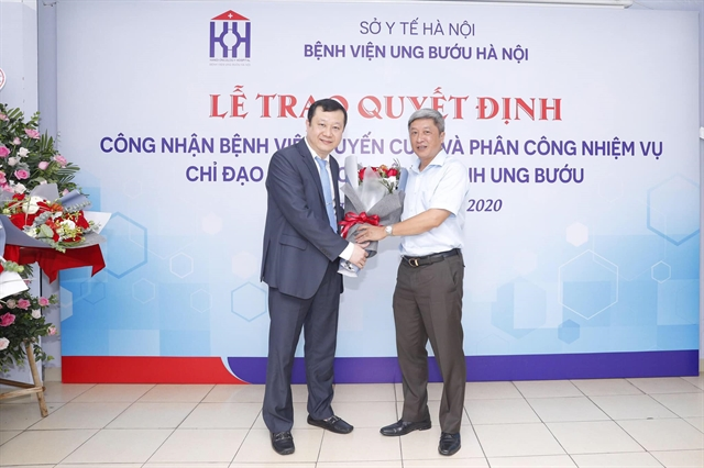 Hà Nội Oncology Hospital is recognised as highest level hospital on cancer treatment