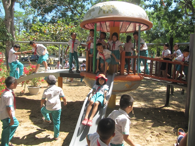 'Green playgrounds open for primary schools