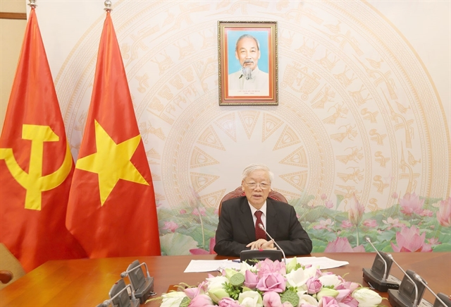 Party leader Trọng holds phone talks with Cambodian PM