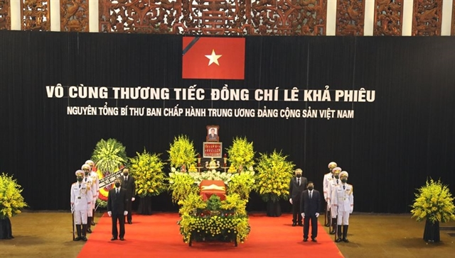 Việt Nam pays last respects to former Party General Secretary Lê Khả Phiêu
