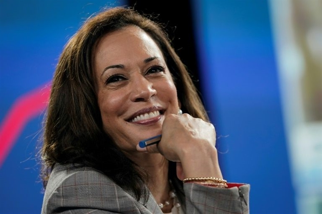 Harris making history as VP pick condemns Trumps leadership failure