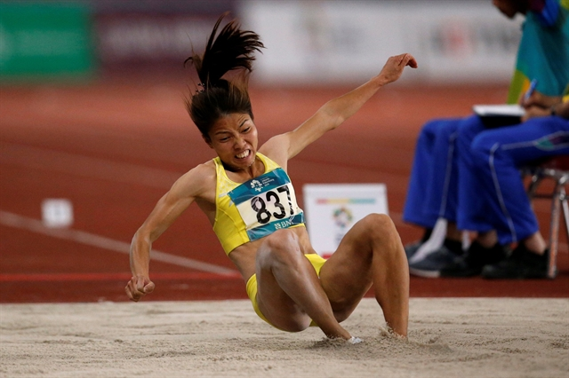 Baby on the way long jump champ Thảo eyes competition