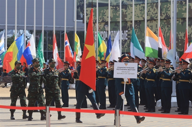 Vietnamese team makes an impression at opening of Army Games 2020