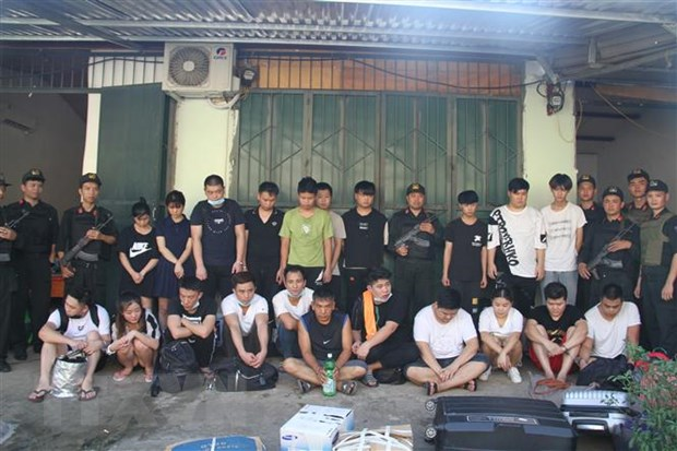 21 alleged Chinese scammers caught in Lào Cai