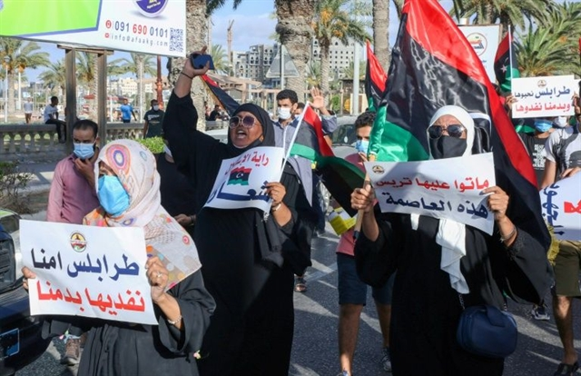 Libyans protest corruption living conditions for third day