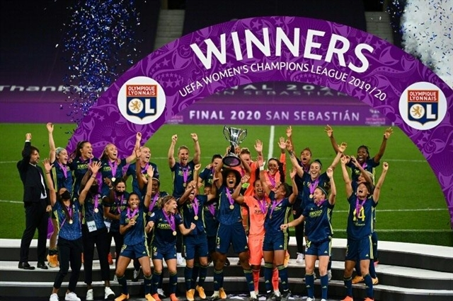 Dominant Lyon beat Wolfsburg to claim fifth straight Womens Champions League title