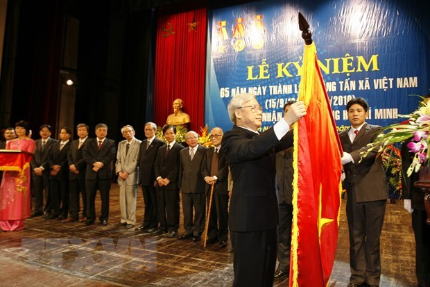 Party chief congratulates Vietnam News Agency on 75th anniversary