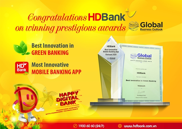 HDBank wins 2 Global Business Outlook awards