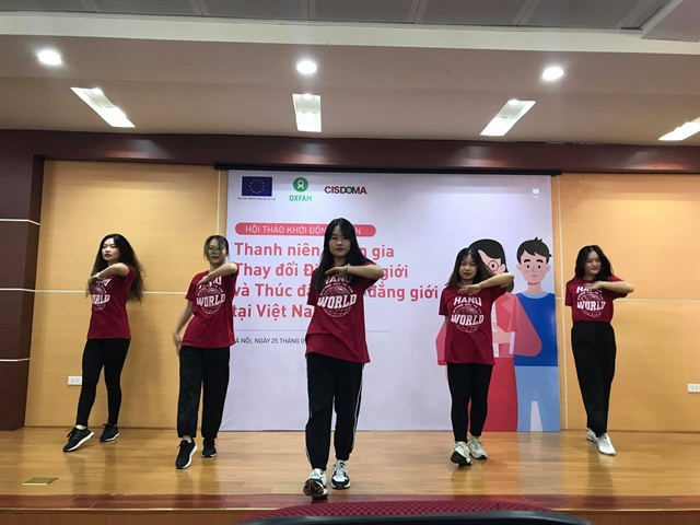 Young people participate in changing gender stereotypes promoting gender equality in Việt Nam