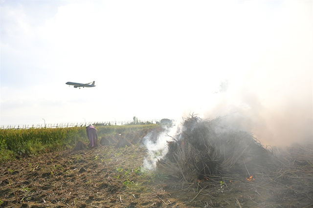 Straw burning threatens flight safety: aviation official