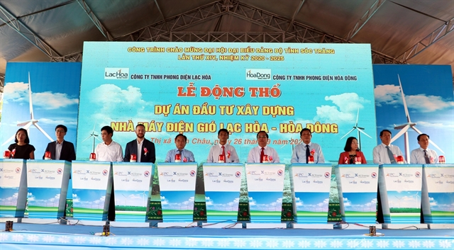 Construction begins on two wind power projects in Sóc Trăng