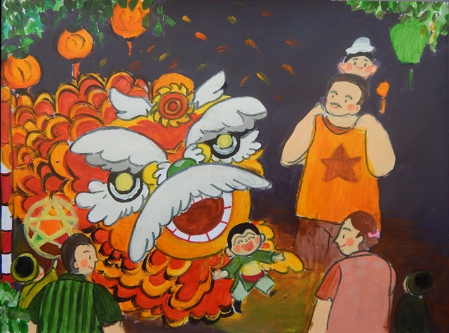 Mid-Autumn painting exhibition opens