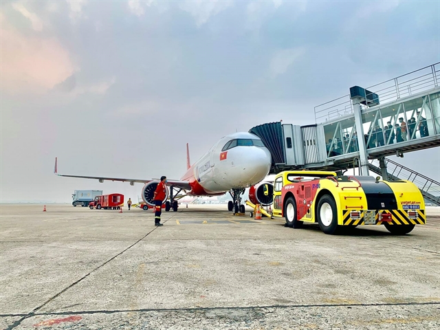 Vietnams largest private airline Vietjet kicks off self-handling  ground operations amid the pandemic