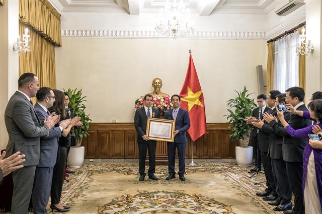 Azerbaijan ambassador receives Friendship order from Vietnamese President
